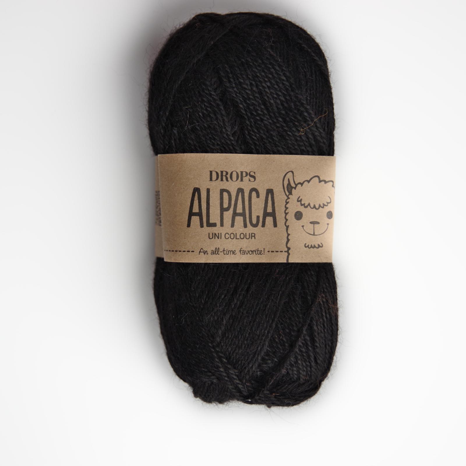 Alpaca - Uni colour - 8903 černá