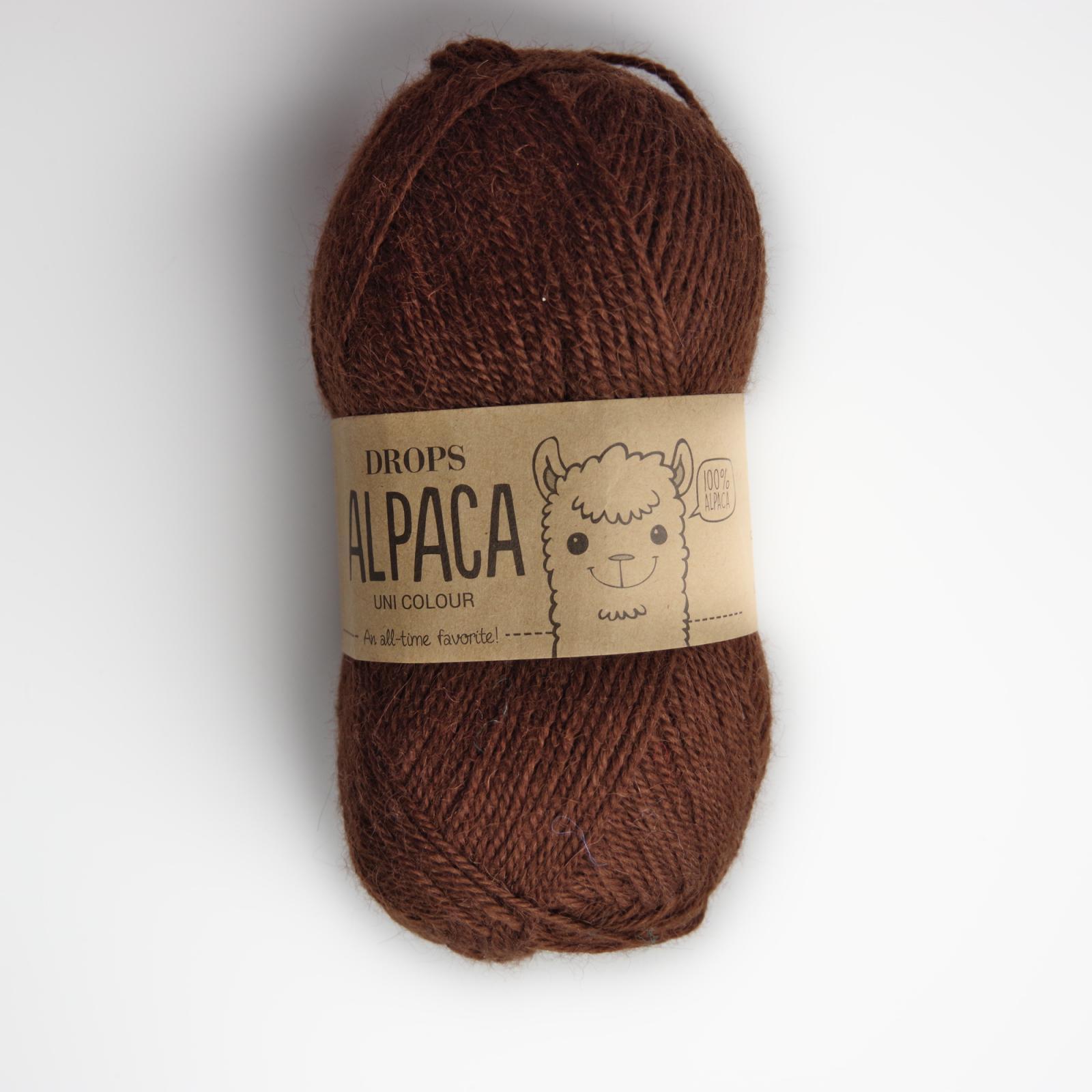 Alpaca - Uni colour - 0403 středně hnědá