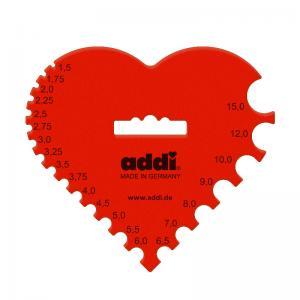 Meřidlo jehlic Addi - srdce
