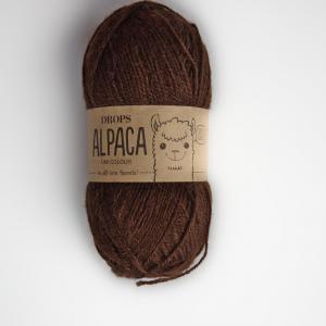 Alpaca - Uni colour - 0601 hnědá